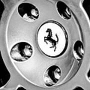 1997 Ferrari F 355 Spider Wheel Emblem -201bw Poster