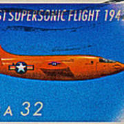 1997 First Supersonic Flight Stamp Poster