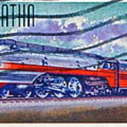 1999 Hiawatha Train Stamp Poster