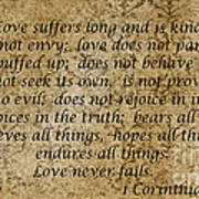 1st Corinthians 13 Verses 4 - 7  Poster