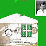 1st Day Cover 1950 Manila Philippine Islands David Lee Guss 1949 Passport Photo  Collage 1950-2012 Poster