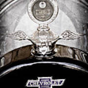 1915 Chevrolet Touring Hood Ornament - Moto Meter Poster