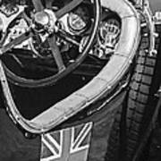 1931 Bentley 4.5 Liter Supercharged Le Mans Steering Wheel -1255bw Poster