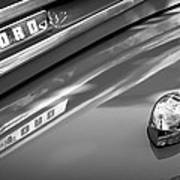 1949 Ford F-1 Pickup Truck Emblem -0027bw Poster
