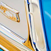 1953 Chevrolet Belair Convertible Emblem Poster