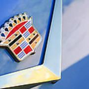 1954 Cadillac Coupe Deville Emblem Poster