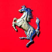1954 Ferrari 500 Mondial Spider Series I Emblem Poster