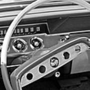 1961 Chevrolet Impala Ss Steering Wheel Emblem Poster