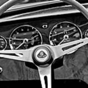 1965 Lotus Elan S2 Steering Wheel Emblem Poster by Jill Reger