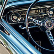 1965 Shelby Prototype Ford Mustang Steering Wheel Emblem Poster