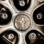 1966 Ford Mustang Gt Wheel Emblem Poster