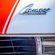 1969 Chevrolet Camaro Rs-ss Indy Pace Car Replica Hood Emblem Poster