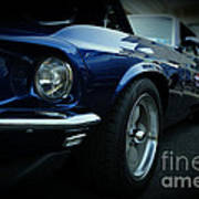 1969 Ford Mustang Mach 1 Fastback Poster by Paul Ward