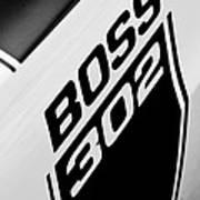 1970 Ford Mustang Boss 302 Emblem Poster
