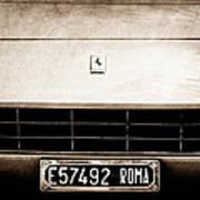 1972 Ferrari 365 Gtb -4a Grille Emblem Poster