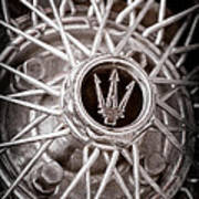 1972 Maserati Ghibli 4.9 Ss Spyder Wheel Emblem Poster
