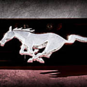 1994 Ford Mustang Corbra Custom Convertible Emblem Poster