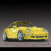 1997 Porsche  993 Twin Turbo Poster