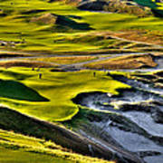 #9 At Chambers Bay Golf Course Poster by David Patterson