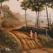 A Country Lane Poster