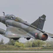 A French Air Force Mirage 2000d Taking Poster