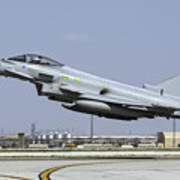 A Royal Air Forcetyphoon Fgr4 Taking Poster