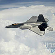 A U.s. Air Force F-22 Raptor Aircraft Poster