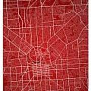 Adelaide Street Map - Adelaide Australia Road Map Art On Colored Poster