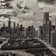Aerial Chicago At Millennium Park Poster