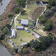 Aerial Near Jekyll Island Poster