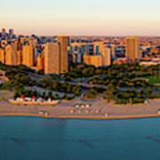 Aerial View Of North Avenue Beach Poster