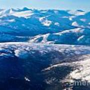 Aerial View Of Snowcapped Peaks In Bc Canada Poster