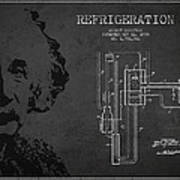 Albert Einstein Patent Drawing From 1930 Poster