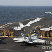 An Fa-18 Hornet Launches Poster