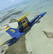 An Fa-18 Hornet Of The Blue Angels Poster