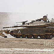 An Israel Defense Force Merkava Mark Iv Poster