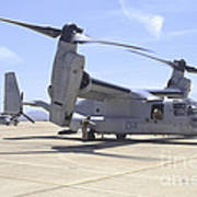An Mv-22 Osprey Taxiing At Marine Corps Poster