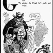 Anti-trust Cartoon, 1902 Poster