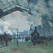 Arrival Of The Normandy Train Poster
