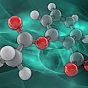 Aspirin Molecular Model Poster