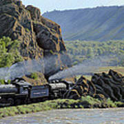 At Point Of Rocks-bound For Yellowstone Poster