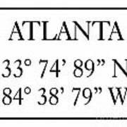 Atlanta Coordinates Poster