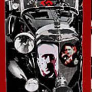 Auction Sale Of Adolf Hitler's Model 770-k 1941 Mercedes-benz Touring Car In Scottsdale Az 1973 Poster