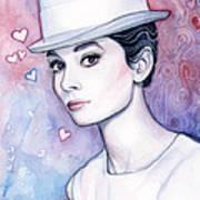 Audrey Hepburn Fashion Watercolor Poster