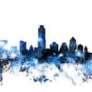Austin Texas Skyline Poster