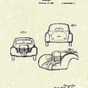 Automobile 1935 Patent Art Poster