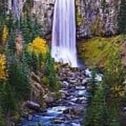Autumn At Tumalo Falls Poster