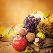 Autumn Fruit Poster