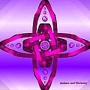Balance And Harmony - Purple Poster