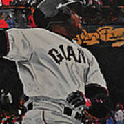 Barry Bonds World Record Breaking Home Run Poster